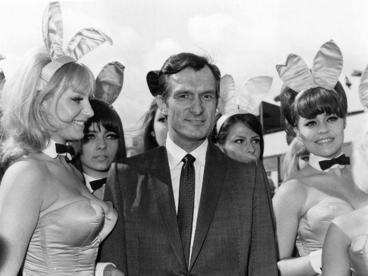 Hefner arrives at London Airport in June 1966