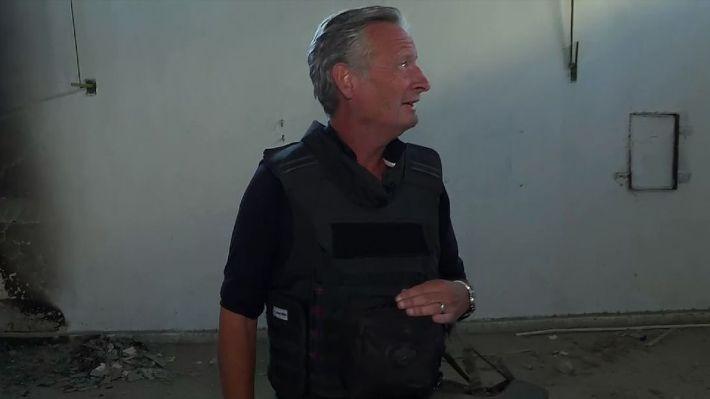 Stuart Ramsay in a torture chamber beneath Raqqa's football stadium