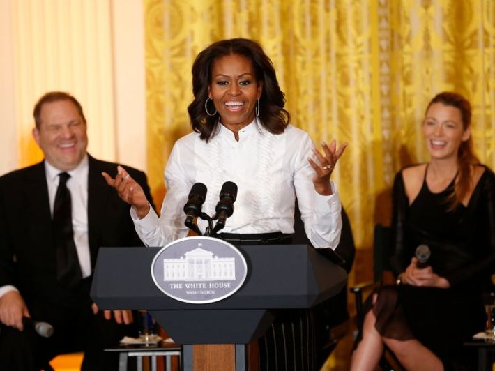 Michelle Obama pictured with Harvey Weinstein in 2013