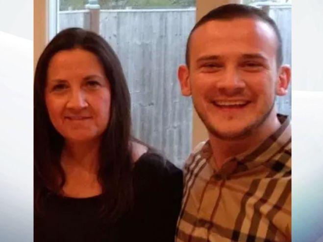 Tracey Hanson with her son Josh