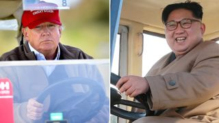 Donald Trump and Kim Jong Un Time and place for Trump-Kim summit to be announced 'within three days' Time and place for Trump-Kim summit to be announced 'within three days' skynews donald trump kim jong un 4156361