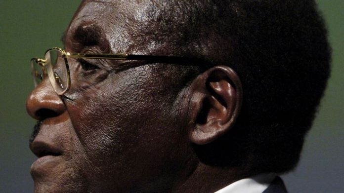 FILE PHOTO - File photo of Zimbabwean President Mugabe addressing the inaugural session of the World...  A modern history of a nation skynews mugabe zimbabwe 4162297