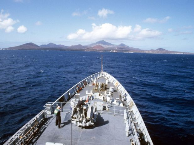 Ascension island from the sea