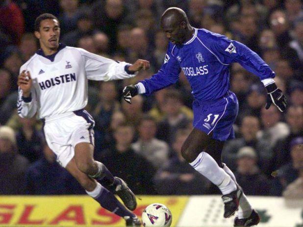 George Weah playing for Chelsea against Spurs in January 2000