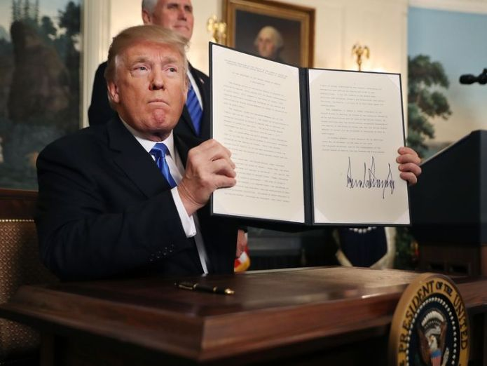 U.S. President Donald Trump announces that the U.S. government will formally recognize Jerusalem as the capital of Israel in the Diplomatic Reception Room at the White House December 6, 2017 in Washington, DC. In keeping with a campaign promise, Trump said the United States will move its embassy from Tel Aviv to Jerusalem sometime in the next few years. No other country has its embassy in Jerusalem. Middle East peace unlikely if Donald Trump takes sides Middle East peace unlikely if Donald Trump takes sides skynews donald trump trump 4176898