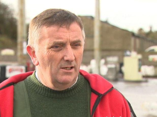 The border cuts through Eamon Fitzpatrick's grocery, hardware and fuel business on the outskirts of Clones.