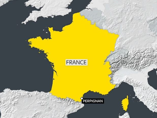 A train has been involved in a fatal collision with a schoolbus near Perpignan in France