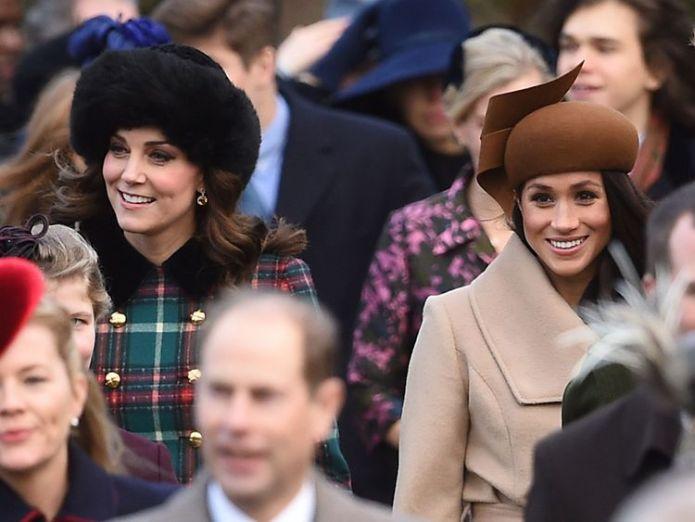 Die Herzogin von Cambridge mit Meghan Markle