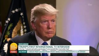 Donald trump during the Piers Morgan interview