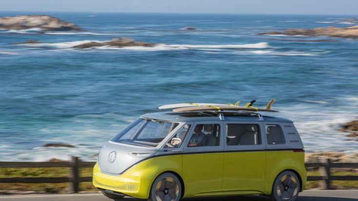The Volkswagen I.D. Buzz all-electric concept car