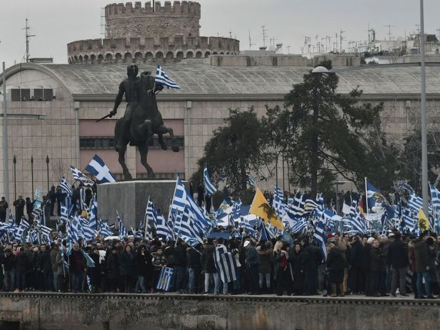 Tens of thousands of Greeks called for the Republic of Macedonia's name to be changed