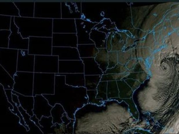 severe.weather.eu  tweeted this satellite picture showing the build-up of the weather