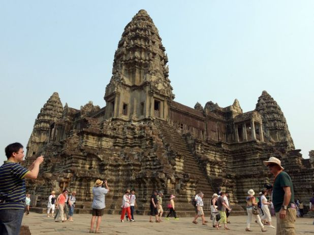 They are understood to have been near to Angkor Wat temple in Siem Reap. File pic