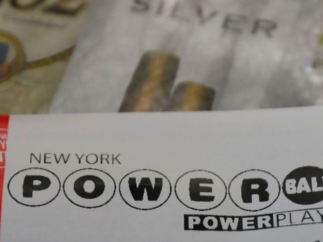 A Powerball lottery ticket