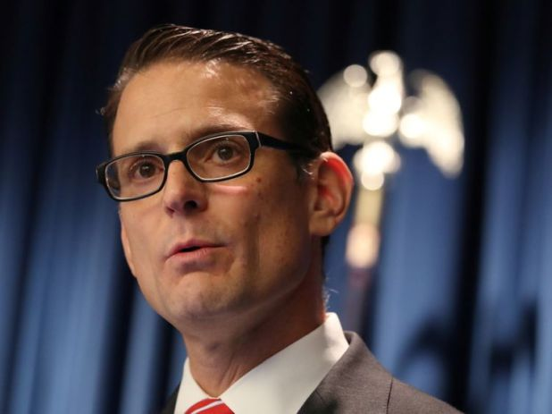 Riverside County District Attorney Mike Hestrin announces charges against David Turpin and Louise Turpin...
