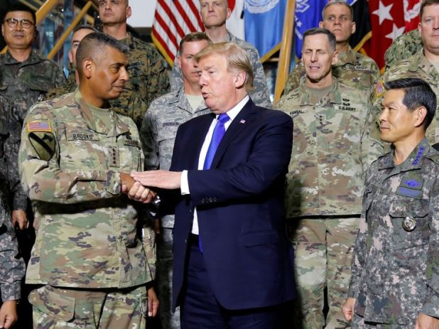 General Vincent K Brooks is head of the joint US-South Korea forces in North Korea