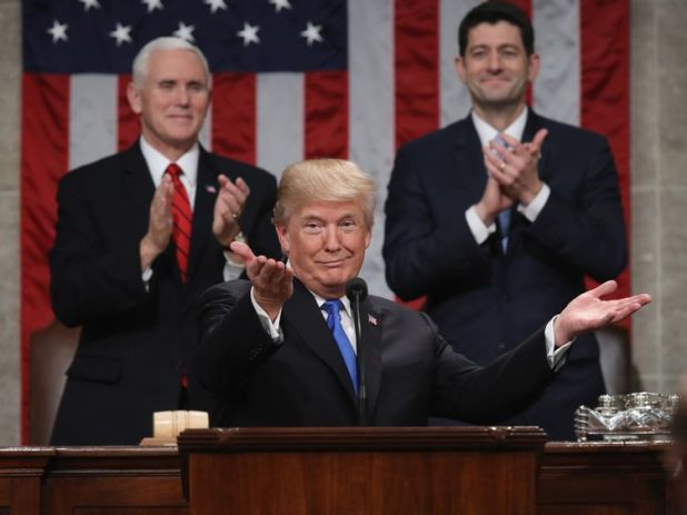 Applause for President Trump after his State of the Union address