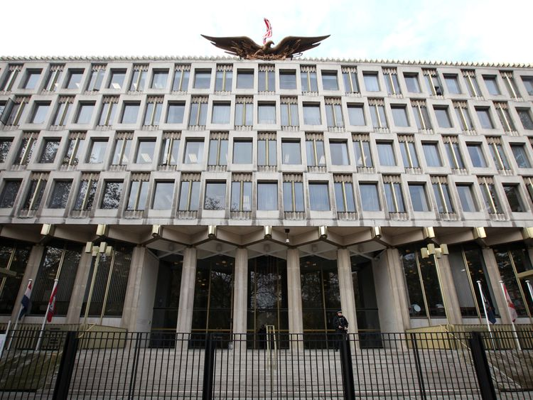 The old US embassy to Britain in Grosvenor Square