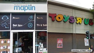 Maplin and Toys R Us 'Not Geoffrey!' Toys R Us fans despair as firm's HQ sells off giraffe mascot 'Not Geoffrey!' Toys R Us fans despair as firm's HQ sells off giraffe mascot skynews maplin toys r us 4243037