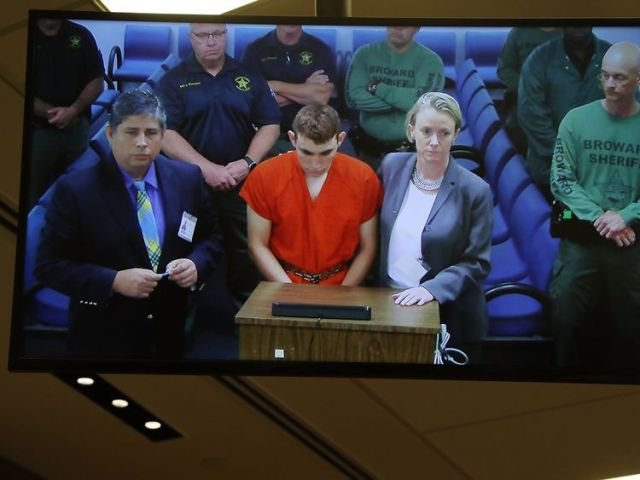Nikolas Cruz appears in court where he was charged with the murder of 17 people at his former school
