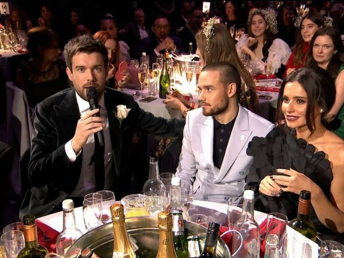 Jack Whitehall with Liam Payne and Cheryl Lipa and Stormzy bring politics to the Brits as both win two awards Lipa and Stormzy bring politics to the Brits as both win two awards skynews jack whitehall liam payne 4237372