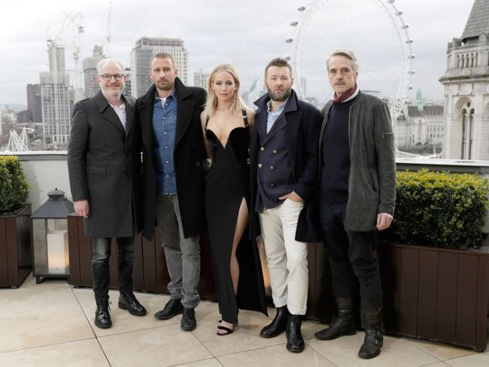 XXX dueing the 'Red Sparrow' photocall at The Corinthia Hotel on February 20, 2018 in London, England. Jennifer Lawrence responds to dress row Jennifer Lawrence responds to dress row skynews jennifer lawrence red sparrow 4236905