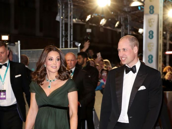 Prince William, Duke of Cambridge and Catherine, Duchess of Cambridge attend the EE British Academy Film Awards (BAFTA) held at Royal Albert Hall on February 18, 2018 in London, England. Three Billboards outside Ebbing, Missouri claims five awards Three Billboards outside Ebbing, Missouri claims five awards skynews kate middleton william 4234707