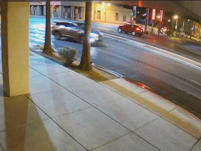 The killer was driving a silver or light blue Hyundai Tucson SUV. Pic: LVMPD