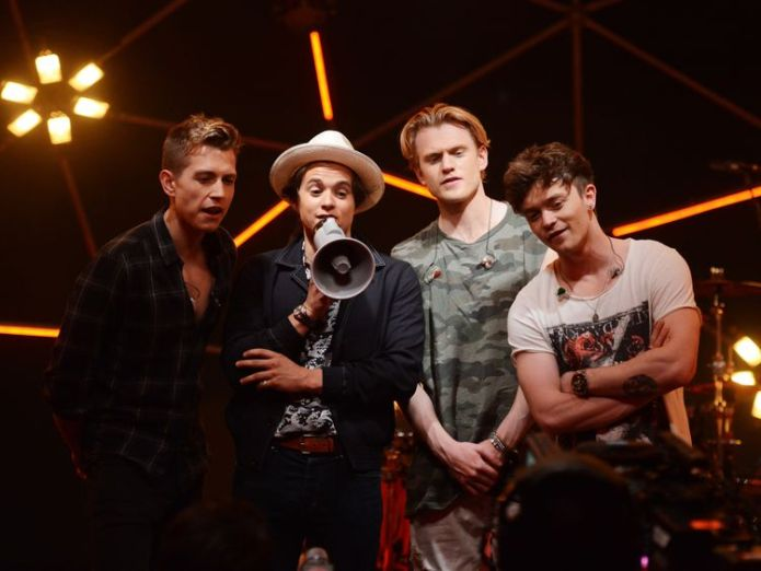 LONDON, ENGLAND - JUNE 09: James McVey, Bradley Simpson, Tristan Evans and Connor Ball of The Vamps at MTV Live Stage at ExCel on June 9, 2017 in London, England. MTV Live Stage is a new music series that puts the artist at the epicentre of the performance. Filmed in a unique 360 degree light set and caged within an incredible steel dome, it will feature performances by Anne Marie, The Amazons, Dua Lipa, Sean Paul and The Vamps, and premieres on MTV UK on Friday at 8pm from 30th June 2017. (Phot Gender equality 'a moral obligation which must be supported' Gender equality 'a moral obligation which must be supported' skynews the vamps band 4236626