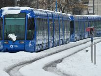 A tramway blocked by snow in Montpellier, southern France Ireland on red alert as 'extraordinary' storm approaches Ireland on red alert as 'extraordinary' storm approaches skynews europe snow france 4243823