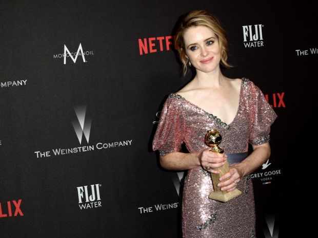 The Weinstein Company And Netflix Golden Globe Party, Presented With FIJI Water, Grey Goose Vodka, Lindt Chocolate, And Moroccanoil - Red CarpetBEVERLY HILLS, CA - JANUARY 08: Actress Claire Foy at The Weinstein Company and Netflix Golden Globes Party presented with Landmark Vineyards at The Beverly Hilton Hotel on January 8, 2017 in Beverly Hills, California. (Photo by Tommaso Boddi/Getty Images for The Weinstein Company)