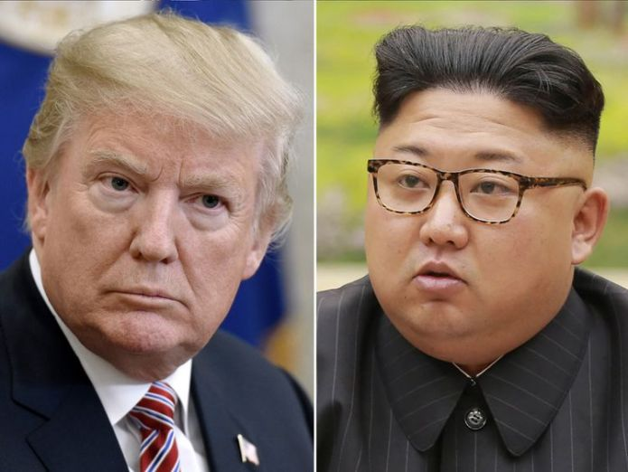Donald Trump and Kim Jong Un Donald Trump cancels summit with North Korean leader Kim Jong Un Donald Trump cancels summit with North Korean leader Kim Jong Un skynews donald trump kim jong un 4250776