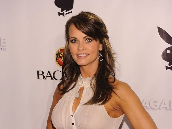 Karen McDougal attends Playboy's Super Saturday Night Party at Sagamore Hotel on February 6, 2010 in Miami Beach, Florida  Donald Trump 'secretly taped talking about Playboy model payment' skynews karen mcdougal trump 4260769