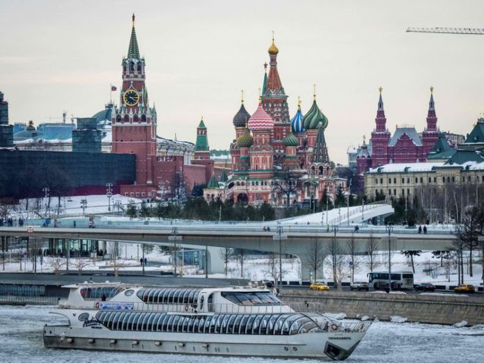 The Kremlin and St Basil's Cathedral in Moscow Kremlin planning Champions League cyber attack, Ukrainian state agency claims Kremlin planning Champions League cyber attack, Ukrainian state agency claims skynews moscow russia 4255311
