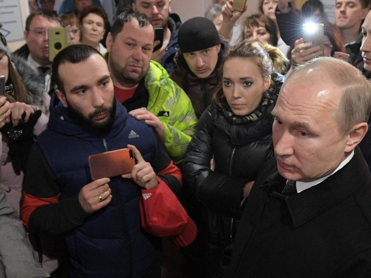 President Putin meets local people and relatives of those missing