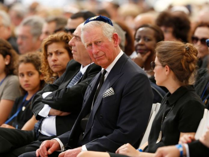Prince Charles at Shimon Peres' funeral in 2016 Prince William to become first British Royal to visit Palestinian Territories Prince William to become first British Royal to visit Palestinian Territories skynews prince charles shimon peres funeral 4243737