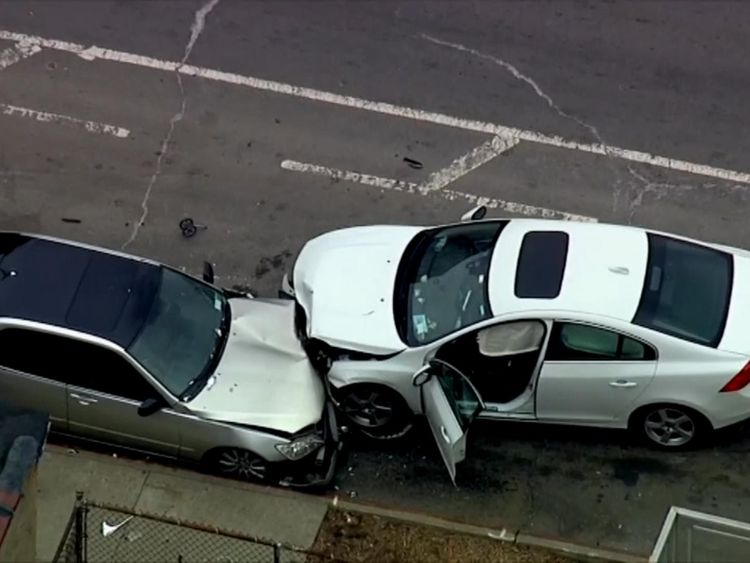 The car's driver is facing possible manslaughter charges