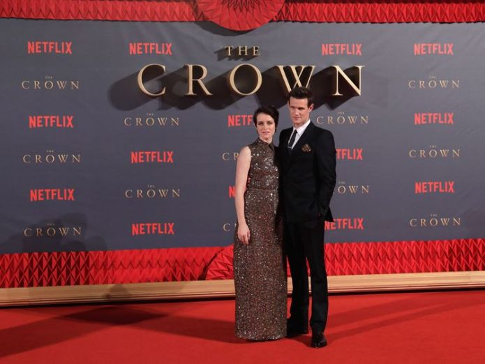 Claire Foy and Matt Smith at the World Premiere of season two of Netflix The Crown  Friends tops list, with The Grand Tour second skynews the crown matt smith 4254855
