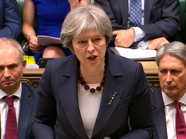 Theresa May addresses the House of Commons on her government's reaction to the poisoning of former Russian intelligence officer Sergei Skripal and his daughter Yulia