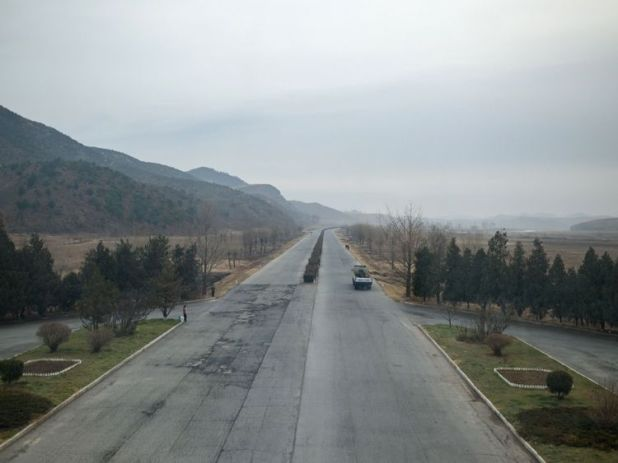 The crash reportedly happened as the bus travelled from Kaesong to Pyongyang