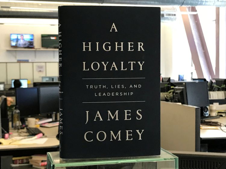 James Comey's new book compares Mr Trump to a dishonest, ego-driven mob boss