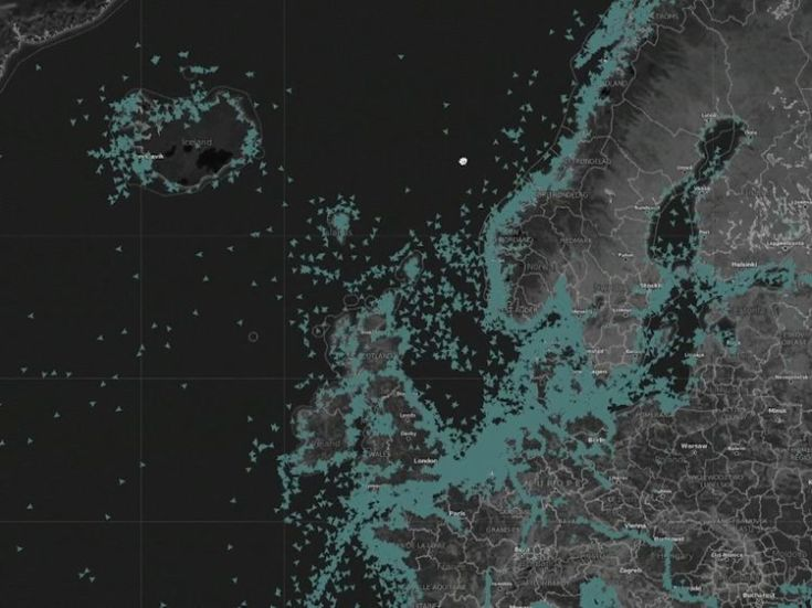 Satellites map out the position of ships