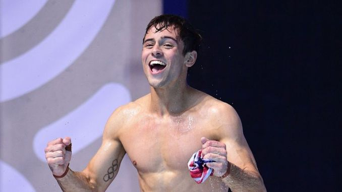 Tom Daley won the Men's 10m platform at the 2017 FINA World Championsips in Budapest
