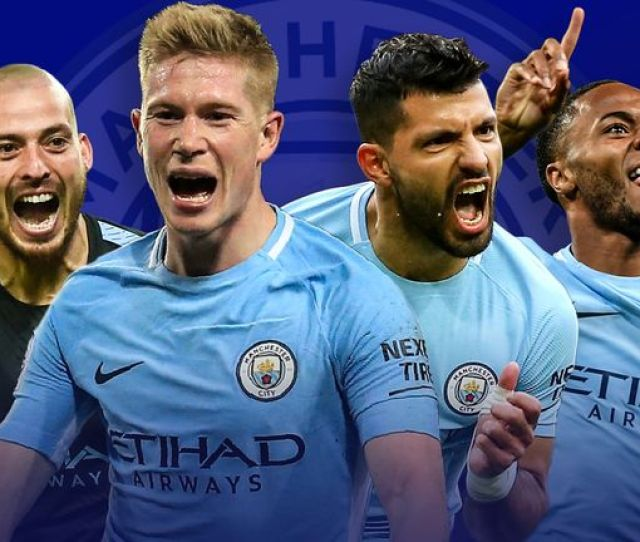 Manchester City Stars Celebrating
