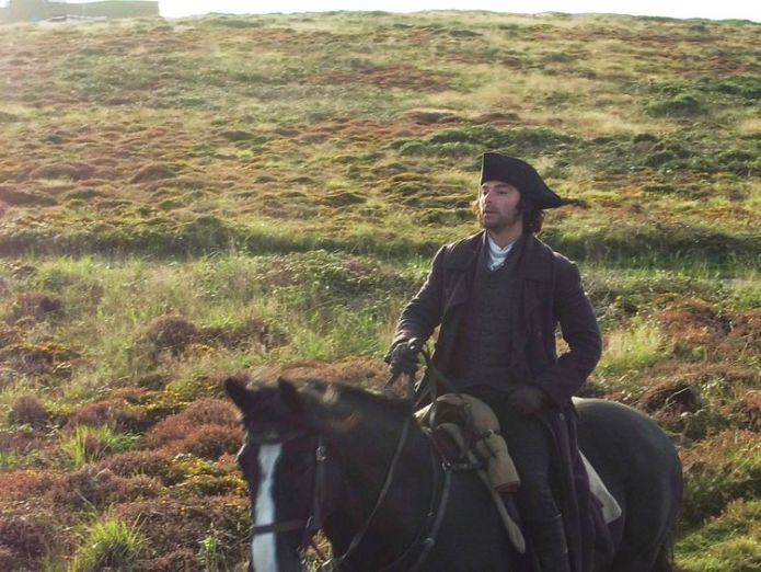 Poldark star Aidan Turner during filming at Gwennap Head on the Cornish coast Poldark actress Eleanor Tomlinson 'pretty upset' to be paid less than co-star Aidan Turner Poldark actress Eleanor Tomlinson 'pretty upset' to be paid less than co-star Aidan Turner skynews aidan turner poldark 4318664