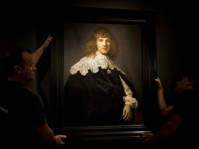 'Portrait of a Young Gentleman' by Rembrandt van Rijn in The Hermitage Museum, Amsterdam Art dealer discovers unknown Rembrandt missed by Christie's Art dealer discovers unknown Rembrandt missed by Christie's skynews amsterdam rembrandt 4311827