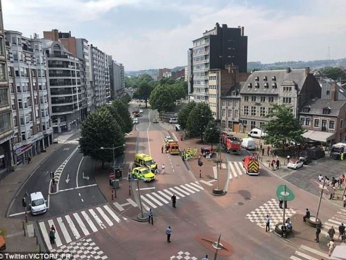 Police at the scene of the shooting in Liege who is gunman benjamin herman in attack on belgian police? Who is gunman Benjamin Herman in attack on Belgian police? skynews belgium liege shooting 4323391
