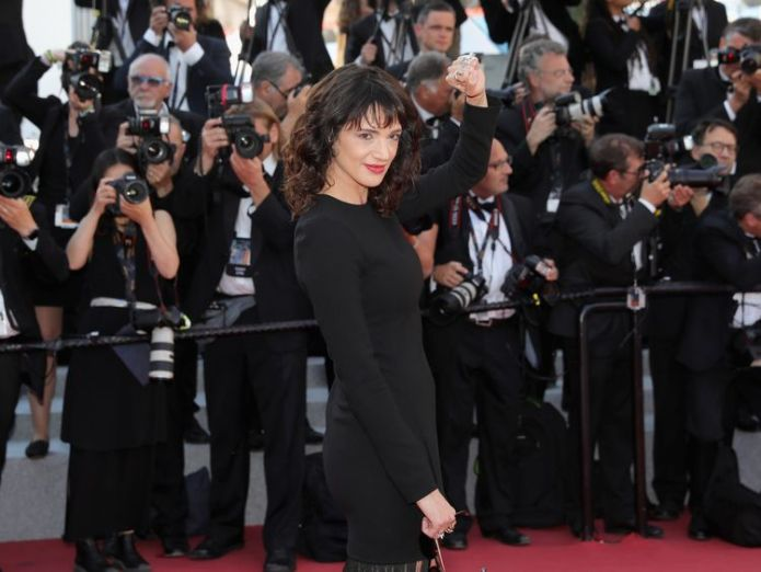 """attends the Closing Ceremony & screening of """"The Man Who Killed Don Quixote"""" during the 71st annual Cannes Film Festival at Palais des Festivals on May 19, 2018 in Cannes, France. Japan's Shoplifters wins Cannes top prize after Weinstein accuser takes to the stage Japan's Shoplifters wins Cannes top prize after Weinstein accuser takes to the stage skynews cannes film festival 4315430"""
