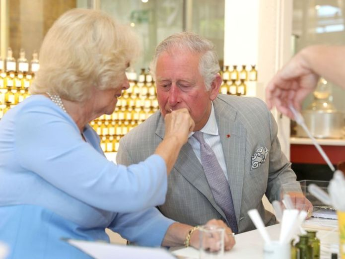 The Prince of Wales and Duchess of Cornwall test various scents during a visit to the Fragonard Perfumery in Eze, France prince charles and camilla pay moving tribute to nice terror attack victims Prince Charles and Camilla pay moving tribute to Nice terror attack victims skynews charles camilla royal 4303486