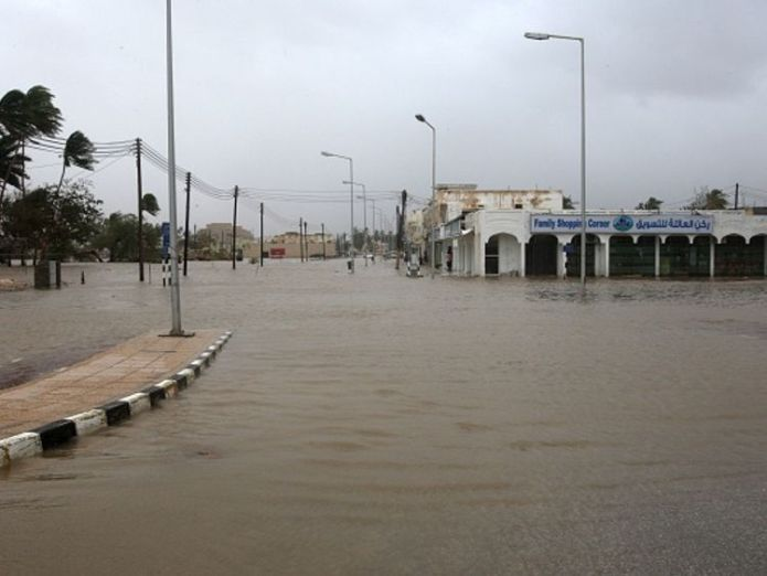 Salalah has had three-years worth of its typical rainfall in one day Cyclone Mekunu leaves at least 10 dead as it batters Oman and Yemen Cyclone Mekunu leaves at least 10 dead as it batters Oman and Yemen skynews cyclone mekunu salalah 4320999